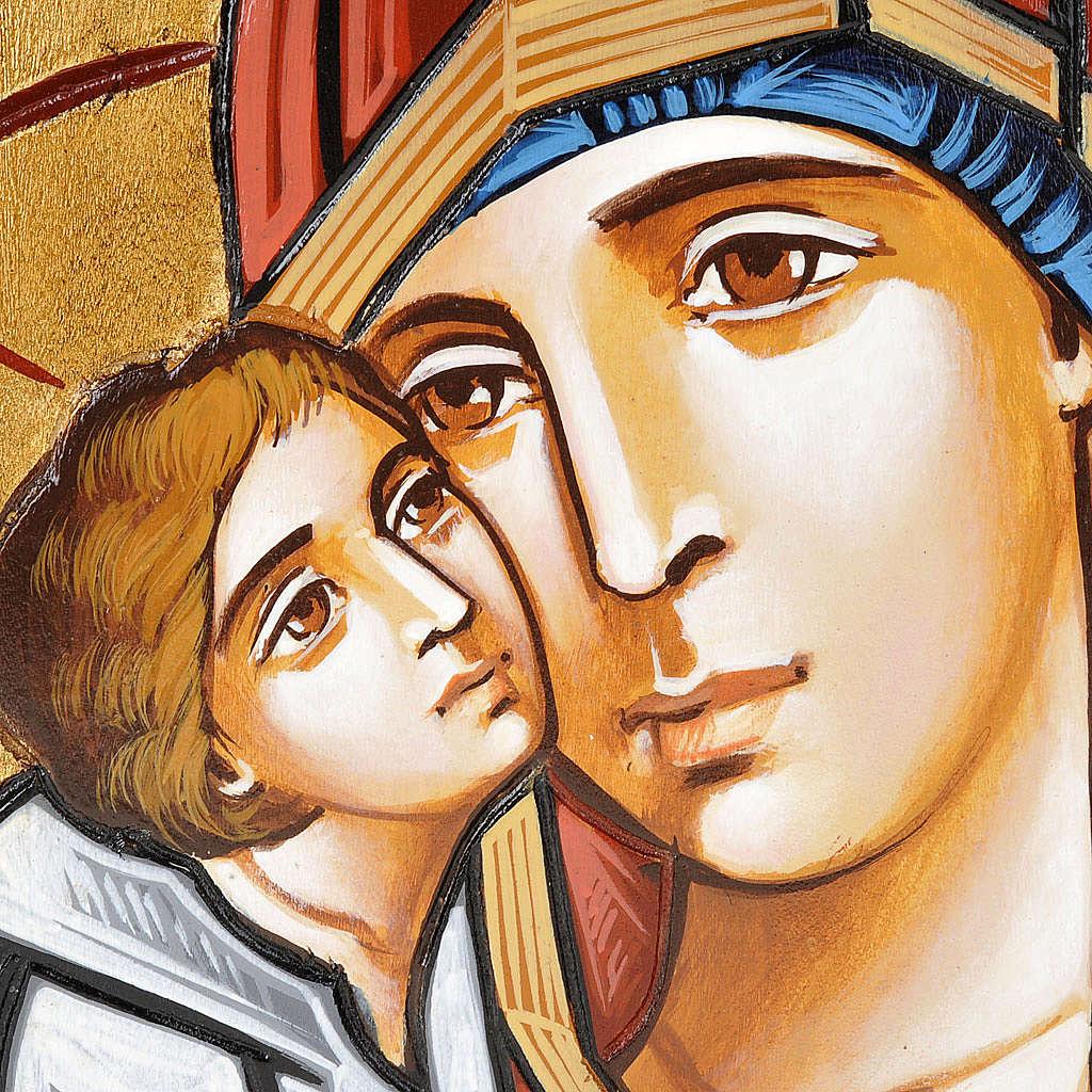 Icona Vergine Eleousa tavola irregolare 4