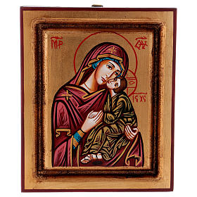 Rumanian hand-painted icons: Mother of God of Tolga