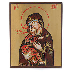 Rumanian hand-painted icons: Virgin of Vladimir