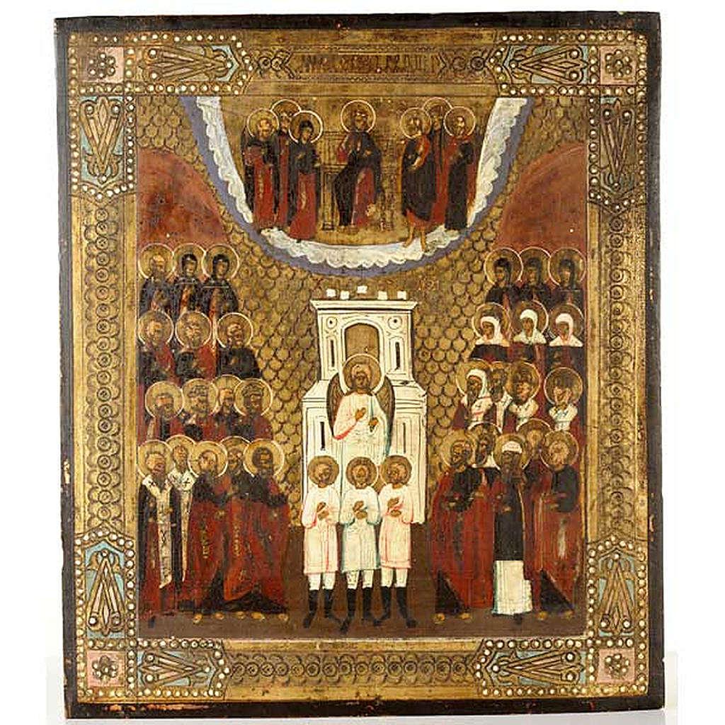 Icona antica Angeli e Santi nella gloria 4