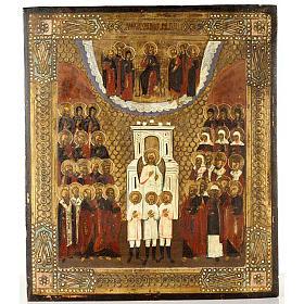 Icona antica Angeli e Santi nella gloria s1