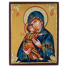 Rumanian hand-painted icons: Mother of God of Vladimir icon