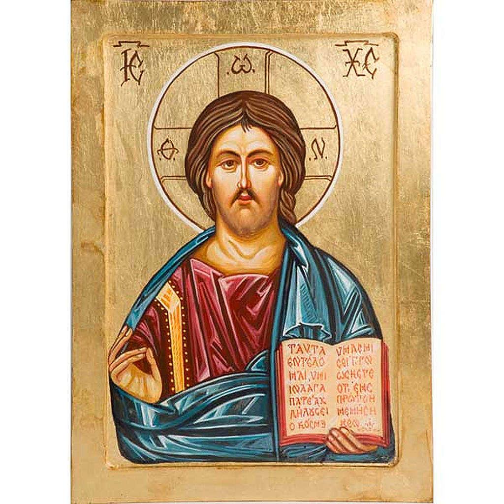 Icona Cristo Pantocratore dipinta a mano 4