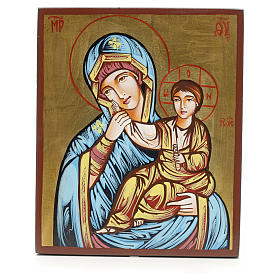 Rumanian hand-painted icons: Mother of God, Joy and Relief