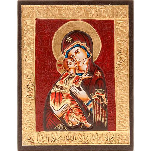 Icona Vergine di Vladimir bordo oro 1