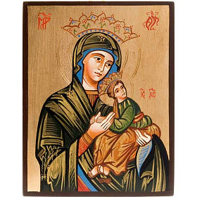 Rumanian hand-painted icons: Virgin of the Passion