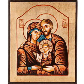 Rumanian hand-painted icons: Icon of the Holy Family, hand painted