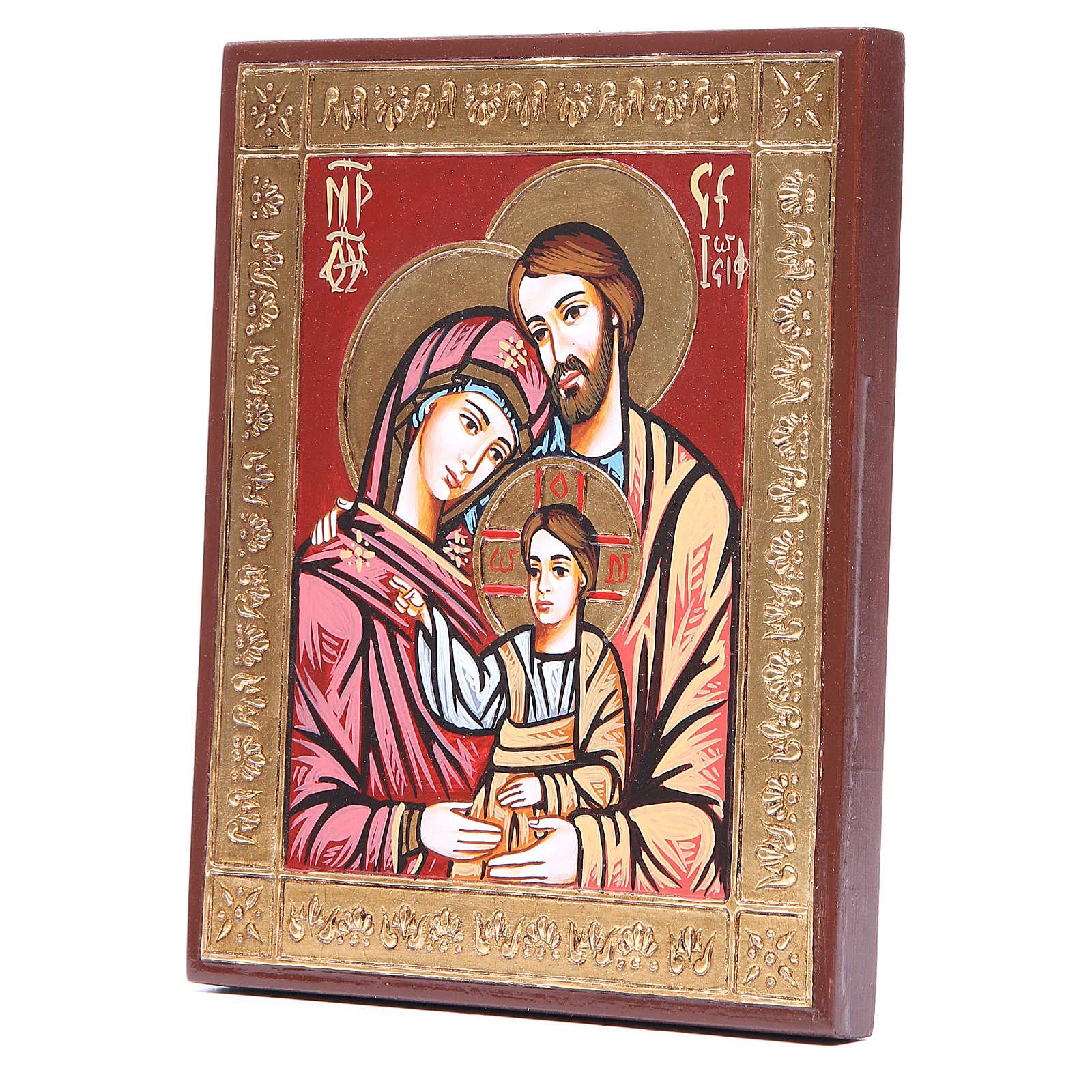 Icône Sainte Famille grecque en relief 4