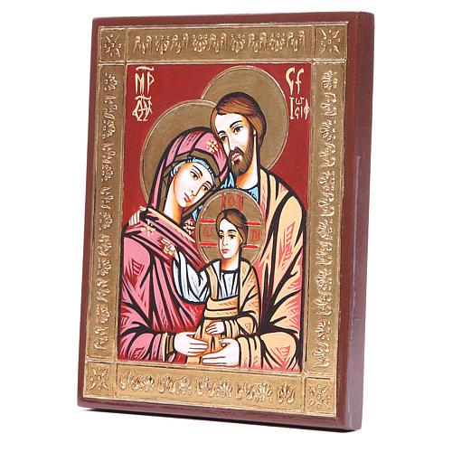 Icona Sacra Famiglia greca rilievo 2