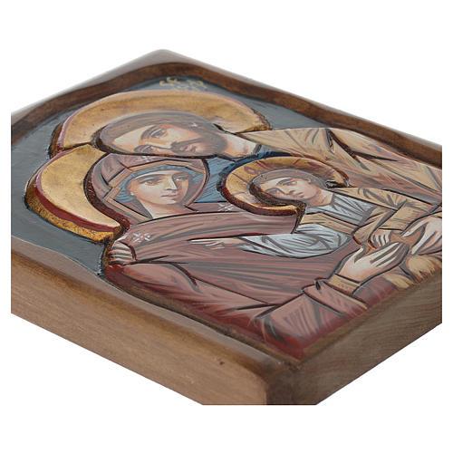 Icône Roumaine Sainte Famille peinte à la main 3