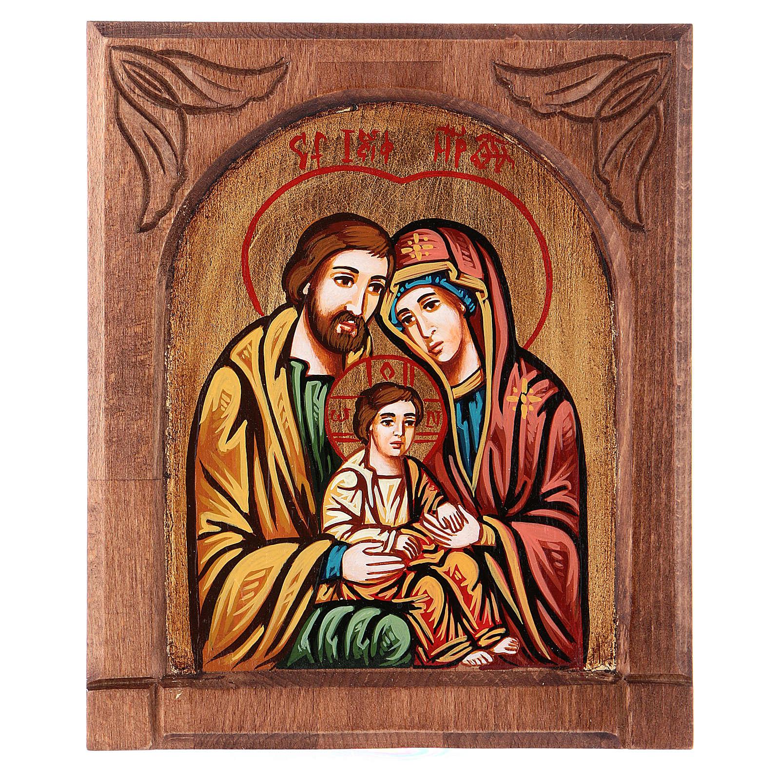 Ícono bizantina de la Sagrada Familia 4