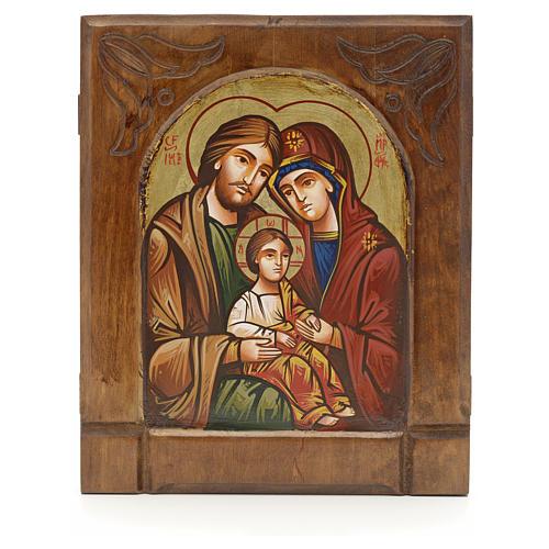 Icône Byzantine de la Sainte Famille 1