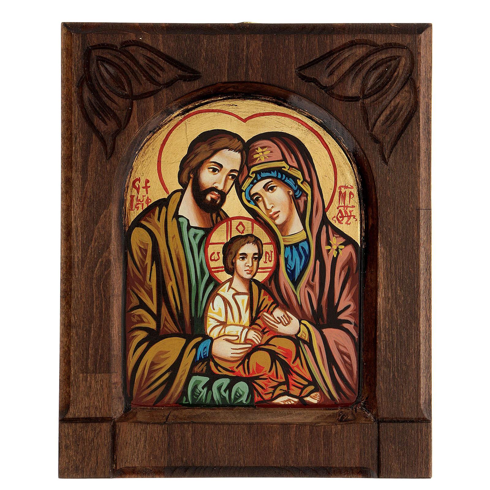 Icona bizantina della Sacra Famiglia 4