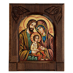 Byzantine icon of the Holy Family s1
