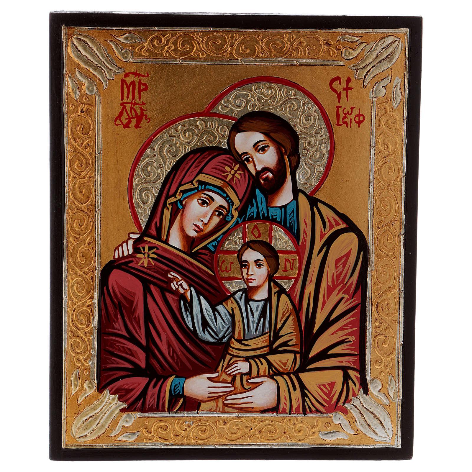 Icône Sainte Famille, peinte 4
