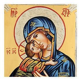 Icona rumena Vergine di Vladimir s2