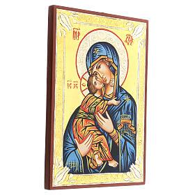 Icona rumena Vergine di Vladimir s3