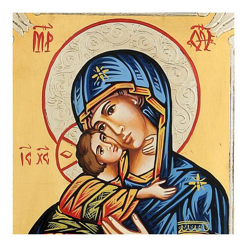 Icona rumena Vergine di Vladimir