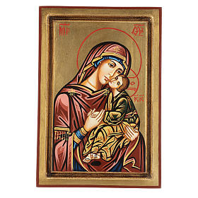 Rumanian hand-painted icons: Mother of God of Tenderness
