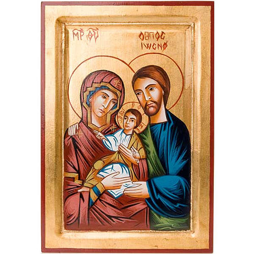 Icona Sacra famiglia dipinta a mano 1