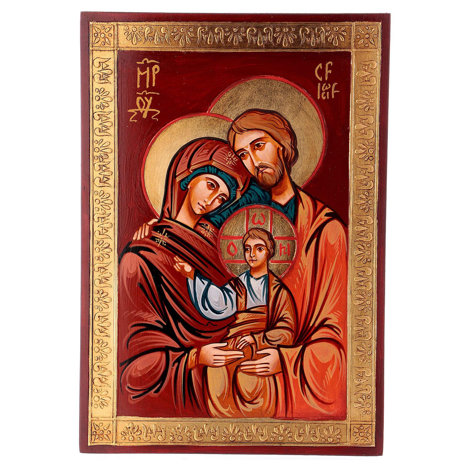 Icona Sacra Famiglia su tavola legno 4