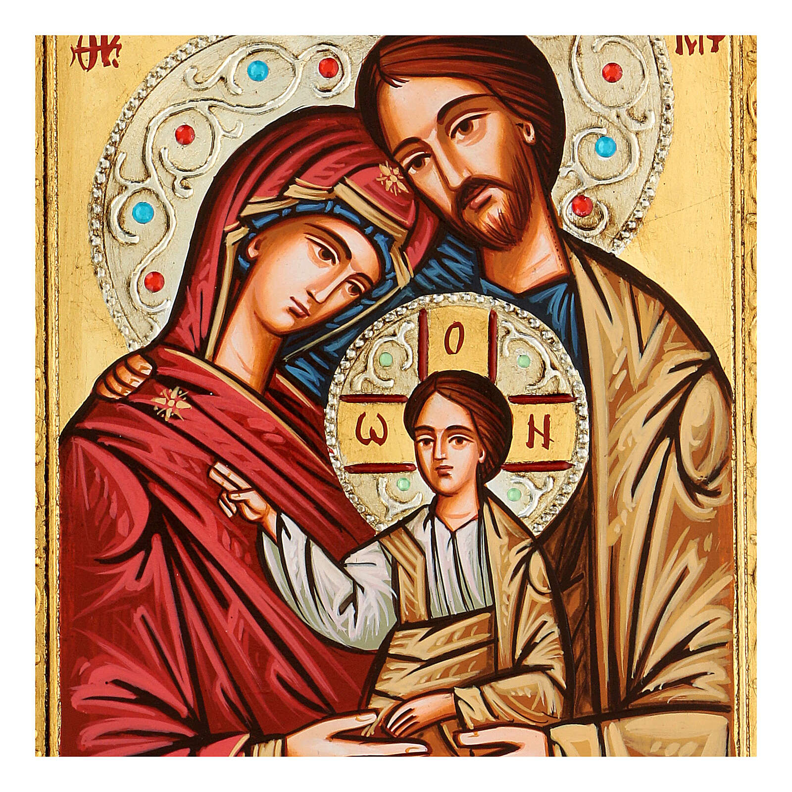 Icona Sacra Famiglia strass 4