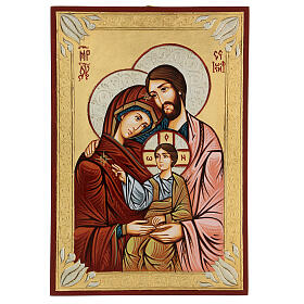 Ícono sacro pintado a mano Sagrada Familia s1