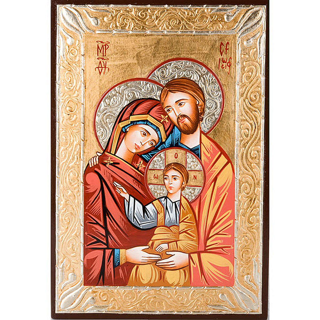 Dettagli Su Icona Sacra Dipinta A Mano Sacra Famiglia