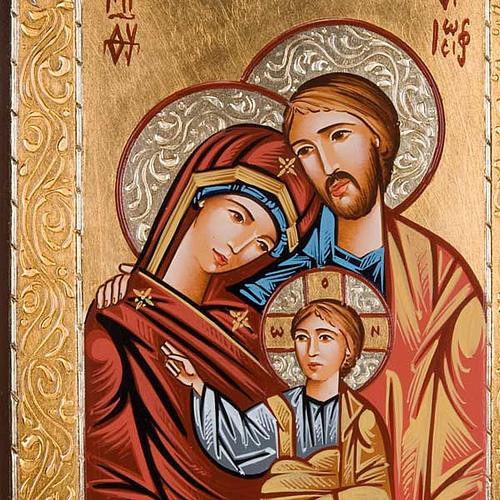 Icona sacra dipinta a mano Sacra Famiglia 3