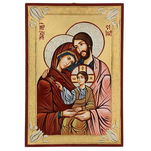 Icona sacra dipinta a mano Sacra Famiglia 1