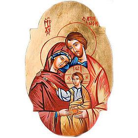 Icône de la Sainte Famille, ovale s1
