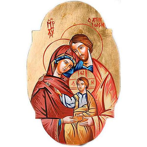 Icône de la Sainte Famille, ovale 1