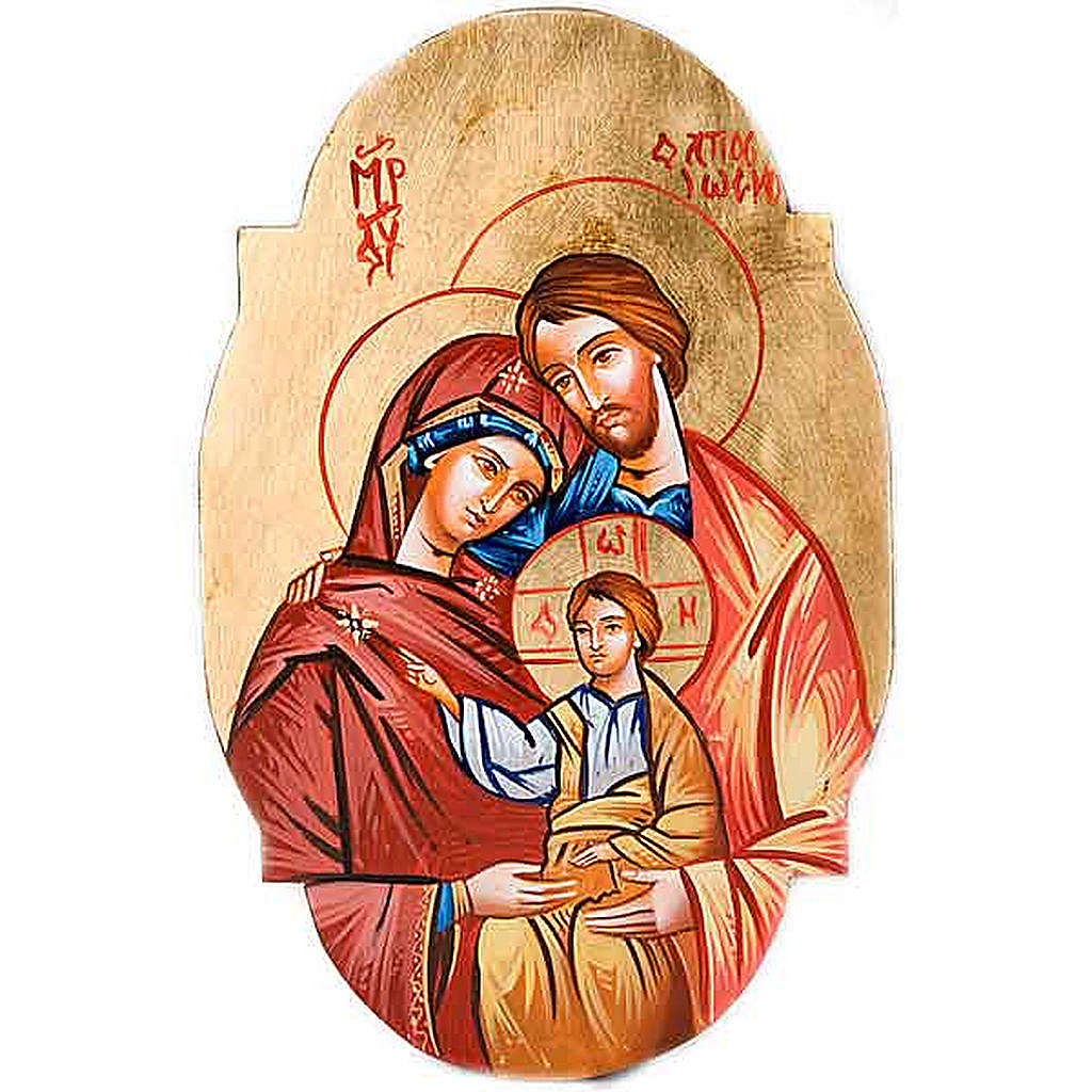 Icona Sacra Famiglia ovale 4