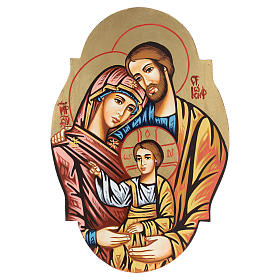 Rumanian hand-painted icons: Oval icon of the Holy Family