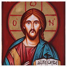 Icona Cristo Pantocratico con greca 22x32 s2