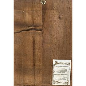 Icona Sacra Famiglia legno intarsiato s4