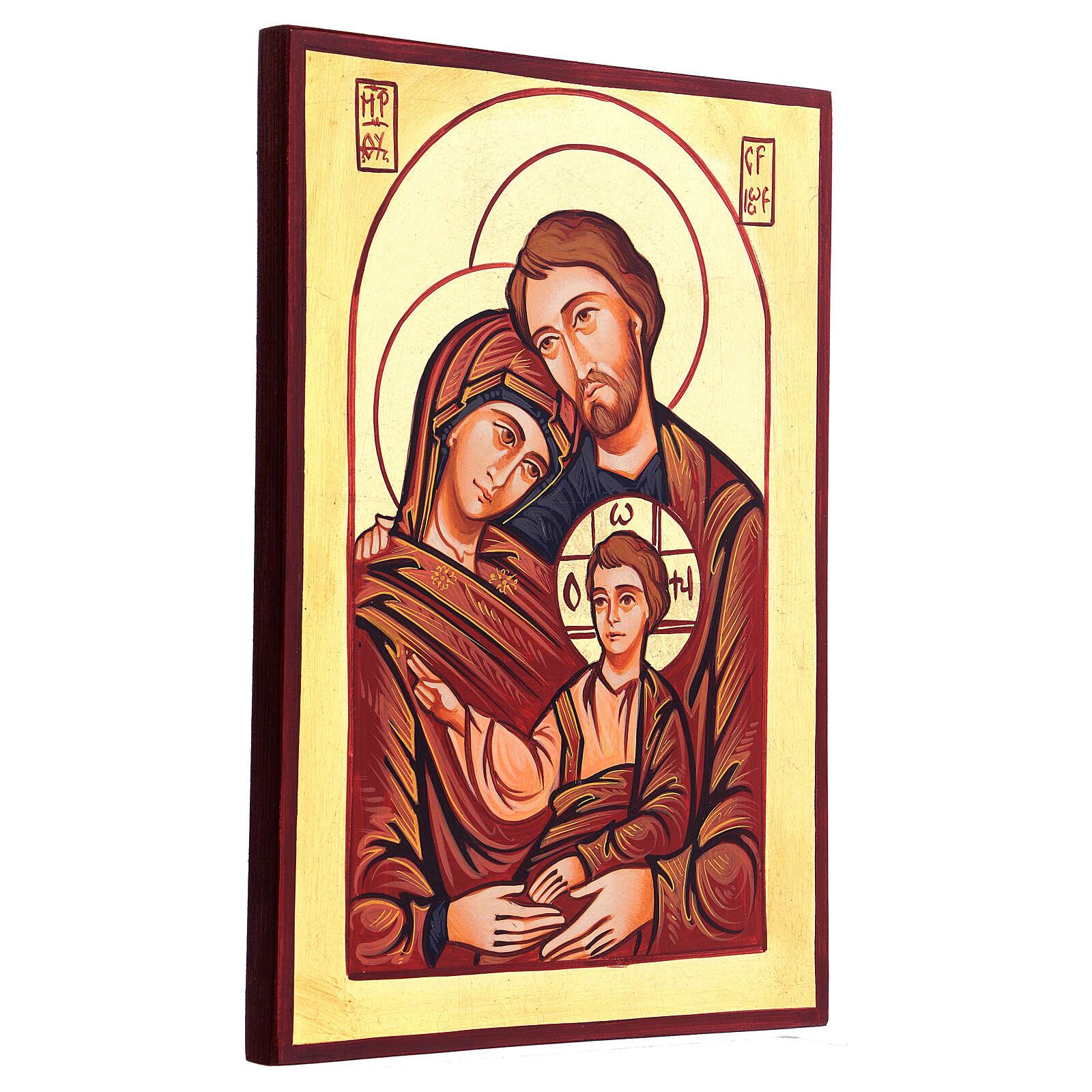 Icona Sacra Famiglia Romania dipinta a mano 4