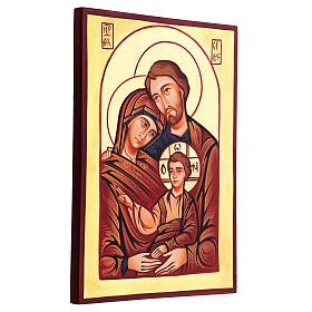 Icona Sacra Famiglia Romania dipinta a mano s3