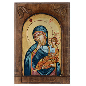 Rumanian hand-painted icons: Mother of God Paramithia