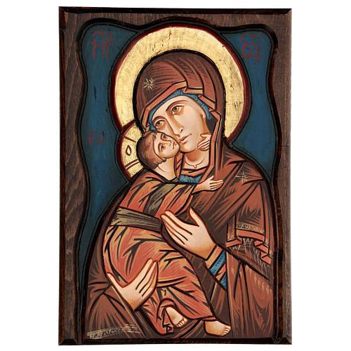 Vierge de Vladimir, fond bleu 1