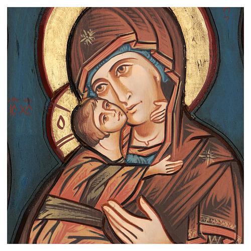 Vierge de Vladimir, fond bleu 2