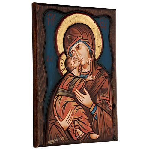 Vierge de Vladimir, fond bleu 3