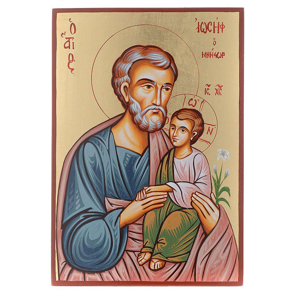 Icona San Giuseppe e Gesù bambino 4