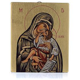 Icona bizantina Madre della Dolcezza 14x10 cm s1