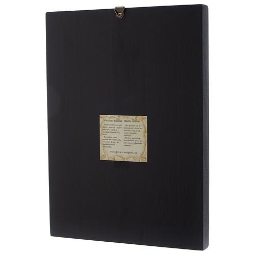 Icona Bizantina Santissima Trinità dipinta su legno 24x18 cm 3