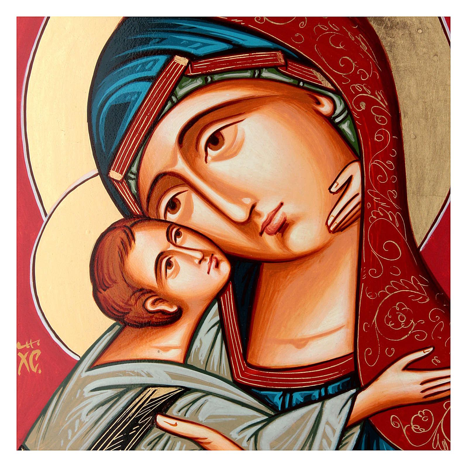 Maria Glykophilousa con bambino 44x32 cm icona Romania 4