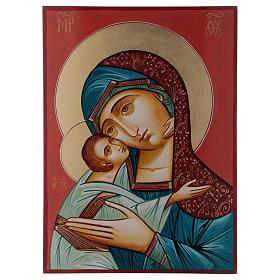 Maria Glykophilousa con bambino 44x32 cm icona Romania s3
