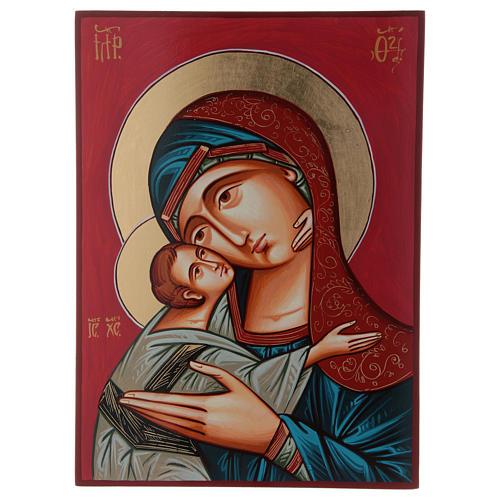 Maria Glykophilousa con bambino 44x32 cm icona Romania 1
