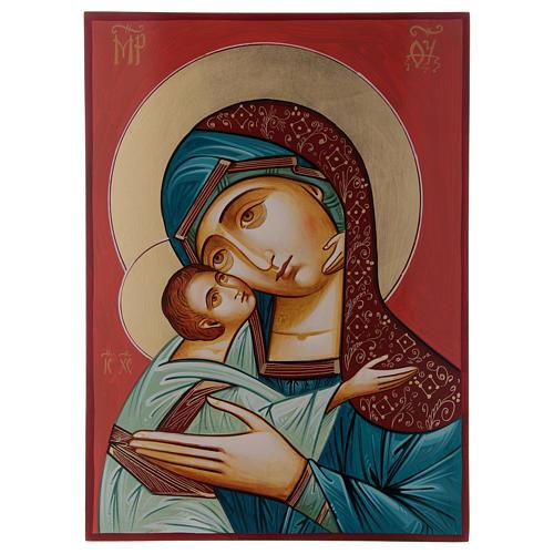 Maria Glykophilousa con bambino 44x32 cm icona Romania 3