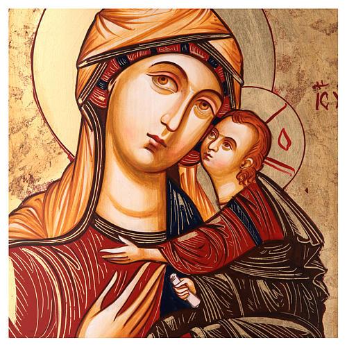 Madonna con bambino Madre dei Mantellini 44x32 oro foglio 2